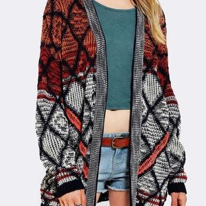 UO Starring at Stars Open Front Cardigan